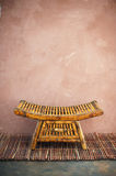 Zen Space. Zen style tray in a simple asian setting Royalty Free Stock Photos