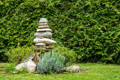 Zen stacked stones royalty free stock photo