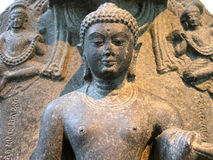 Zen Statue. Detail of a sculpture at an art exhibit of Asian Art at a museum in Dallas, Texas Stock Image
