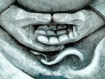 Zen statue details Royalty Free Stock Photography