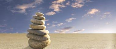 Zen-Steine Stockfoto
