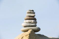 Zen-stijl stenenstapel Stock Fotografie