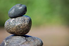Zen Still Life. Rocks stacked one one top of another Royalty Free Stock Images