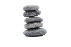 Zen Stone. Zen And Spa Stones Over White Background Stock Photos