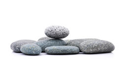 Zen Stone. Zen And Spa Stones Over White Background Stock Photography