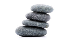 Zen Stone. Zen And Spa Stones Over White Background Stock Photo