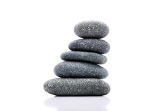 Zen Stone. Zen And Spa Stones Over White Background Royalty Free Stock Image