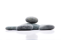 Zen Stone. Zen And Spa Stones Over White Background Royalty Free Stock Photos