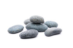 Zen Stone. Zen And Spa Stones Over White Background Royalty Free Stock Photography