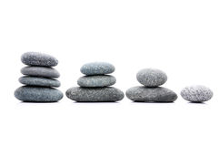 Zen Stone. Zen And Spa Stones Over White Background Royalty Free Stock Photo