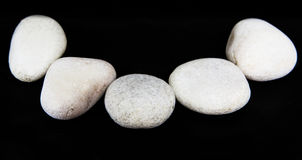 Zen Stone bianco IV Fotografie Stock