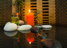 Zen Stone and Candle III Stock Photography