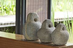 Zen stone decoration Royalty Free Stock Photo