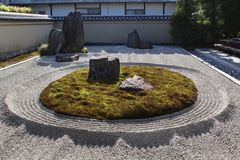 Zen stone garden in Daitoku-ji temple in Kyoto Royalty Free Stock Photos