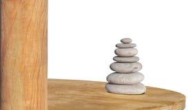Zen stone isolated on white like symbol of health and harmony. Stress stones Royalty Free Stock Images