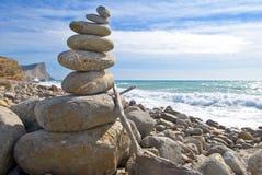 Zen stone meditation stock image