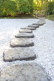 Zen stone path Royalty Free Stock Image