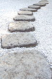 Zen stone path Royalty Free Stock Photos