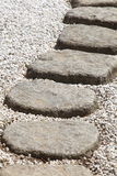 Zen stone path Stock Photo
