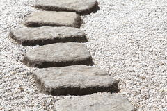 Zen stone path Stock Photography