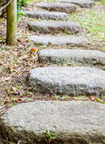 Zen stone path Royalty Free Stock Images