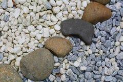 Zen stone path in a Japanese garden Stock Image