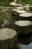 Zen stone path in a pone near Heian Shrine Royalty Free Stock Photo