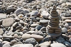 Zen stone pyramid Stock Photography