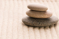 Zen. Stone and sand Royalty Free Stock Photography