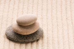 Zen. Stone and sand Stock Photography