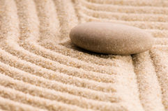Zen. Stone and sand Stock Image