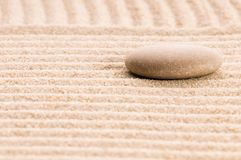 Zen. Stone and sand Stock Photos