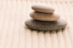 Zen. Stone and sand Stock Images