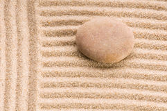 Zen. Stone and sand Royalty Free Stock Images