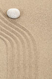 Zen stone in sand Royalty Free Stock Image