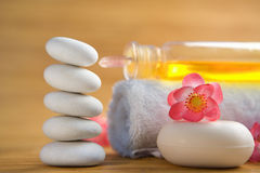 Zen stone and spa items Stock Images