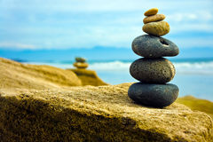 Zen Stone stacked together Stock Photos