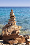 Zen stone stacks. Zen stones stack on the seashore Stock Photography