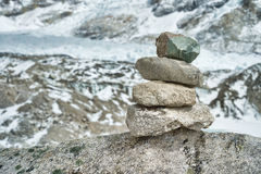 Zen stone tower Royalty Free Stock Photography