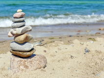 Zen stone tower Stock Images