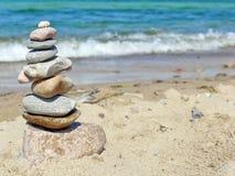 Zen stone tower stock images