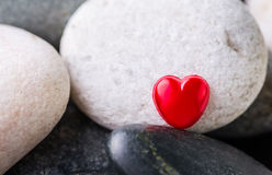 Zen Stone and Valentine Heart I Stock Photos