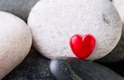 Zen Stone and Valentine Heart I Stock Photos
