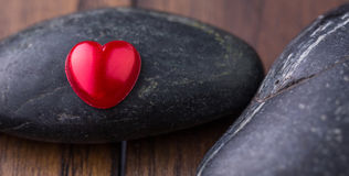 Zen Stone and Valentine Heart IV Stock Images