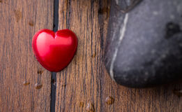 Zen Stone and Valentine Heart IX Stock Photo