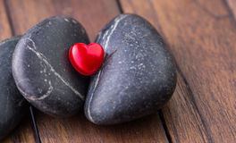 Zen Stone and Valentine Heart V Royalty Free Stock Images