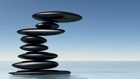 Zen stone on water Royalty Free Stock Photo