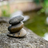 Zen stone with water and nature background. Stock Images