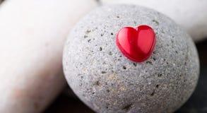 Zen Stone y Valentine Heart II Fotos de archivo