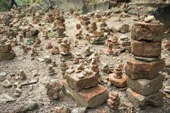 Zen stone. On the ground Stock Photos